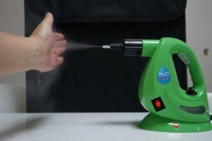 H2Oのスチームを直接手で触る